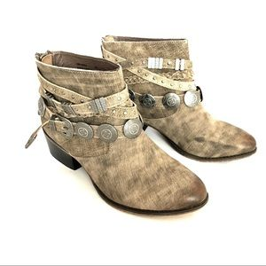 👗Naughty Monkey Brown Anchorage Concho Boots 7.5
